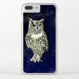 Owl has  good eye-sight, insight, and foresight, in his own words. Clear iPhone Case