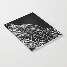 Tangled Barn Owl on Black Notebook