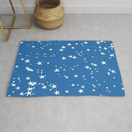 Azure Blue Stars Rug