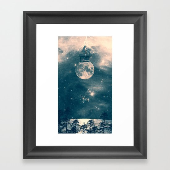One Day I Fell from My Moon Cottage... Framed Art Print
