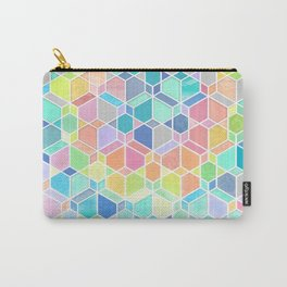 Rainbow Cubes & Diamonds Carry-All Pouch