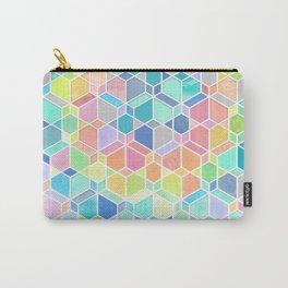 Rainbow Cubes & Diamonds Carry-All Pouch