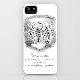 when in love, you share it, wear it, live on it, and everything sparkles! iPhone Case