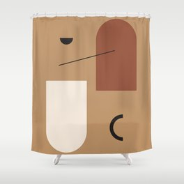 The window of the soul - Modern hand drawn abstract art illustration Shower Curtain