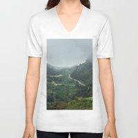 europe V-neck T-shirts featuring Peaks of Europe 2 by Svetlana Korneliuk