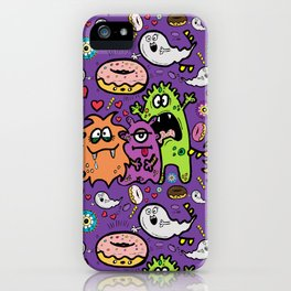 Greedy Monsters iPhone Case