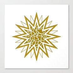 Star (gold) Canvas Print