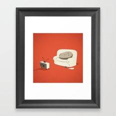 Couch Potato Framed Art Print