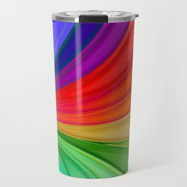 Abstract Rainbow Background Travel Mug