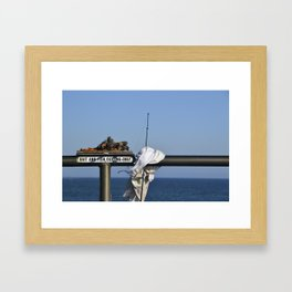 Bait and Fish Cutting Only Framed Art Print