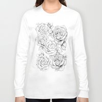 roses Long Sleeve T-shirts featuring roses by iphigenia myos