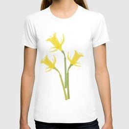 Yellow Daffodils Flowers T-shirt