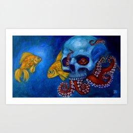 Hermit Octopus Art Print