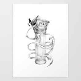 Black Cat - Graphite Drawing Art Print