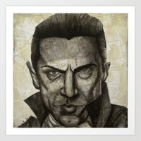 dracula Art Prints featuring Dracula by Colunga-Art
