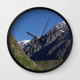 Mountain Ridges Alps Alpine Landscape Wall Clock