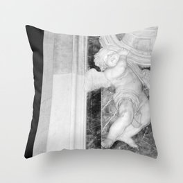 Angel in St Peters Photograph by Larry Simpson Throw Pillow
