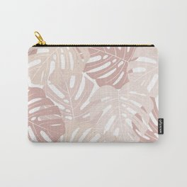 Pastel pink monstera deliciosa Carry-All Pouch