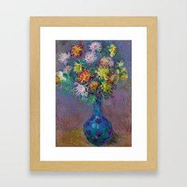 "Claude Monet ""Vase with chrysanthemes"" Framed Art Print"