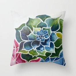 Succulents & Crystals Throw Pillow
