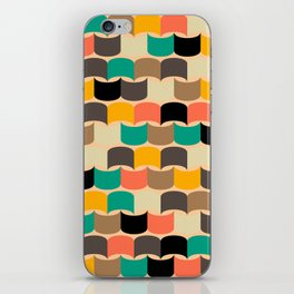 Retro abstract pattern iPhone Skin