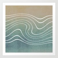 aelwen Art Prints featuring Wave by Aelwen
