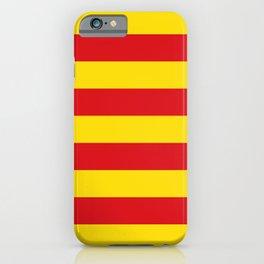 Catalonian flag of Catalan - Senyera iPhone Case