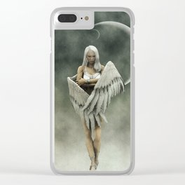 White divine angel Clear iPhone Case