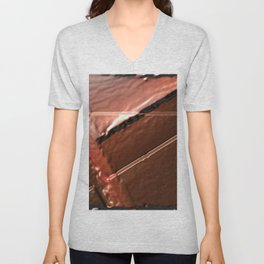 geometrical abstrac art copper colored metal texture Unisex V-Neck