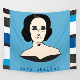 Mary Shelley, hand-drawn portrait Wall Tapestry