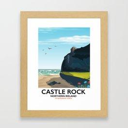 castle rock northern ireland Framed Art Print