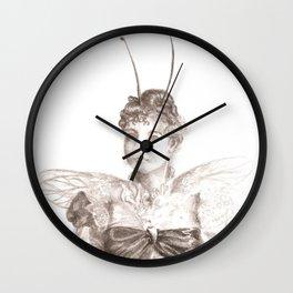 Moth Woman  Wall Clock