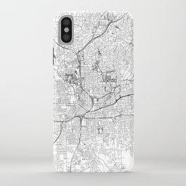 Atlanta White Map iPhone Case