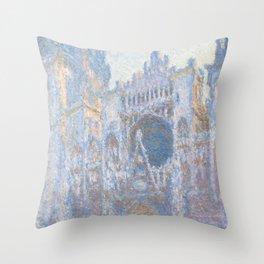 Monet, Rouen Cathedral Series, west facede (La Cathédrale de Rouen) Throw Pillow