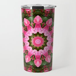 Floral mandala-style, Rose 001.1 Travel Mug