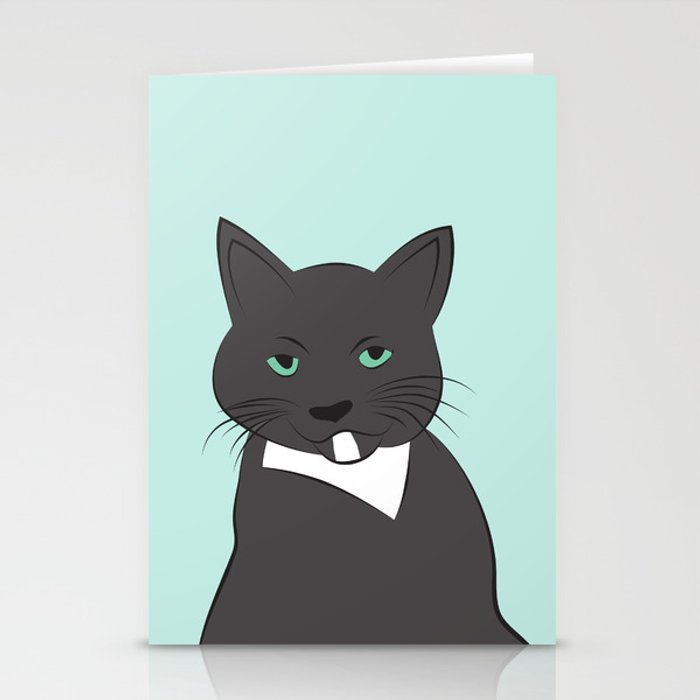 Meow, meow. Stationery Cards
