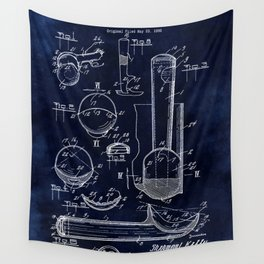 Ice Cream Scoop Blueprint Wall Tapestry