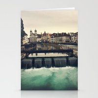 switzerland Stationery Cards featuring Lucerne, Switzerland by Laura Ruth