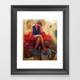 Lu Framed Art Print