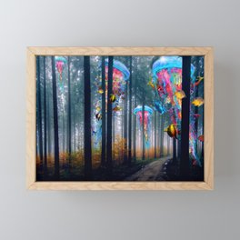 Forest of Super Electric Jellyfish Worlds Framed Mini Art Print