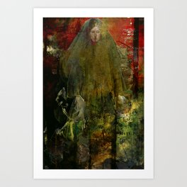 The nameless witch Art Print