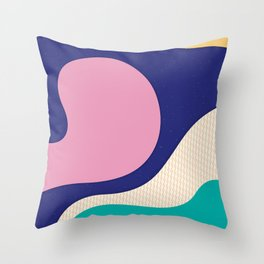 Abstract Waves Throw Pillow