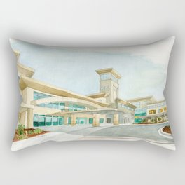 Watercolor Warwick World Headquarters Rectangular Pillow
