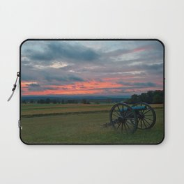 Gettysburg Cannon Sunset Laptop Sleeve