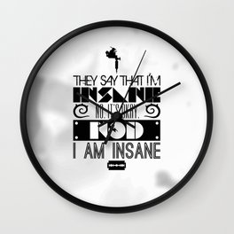 """""""Girl with the Dragon Tattoo"""" Typography Poster Wall Clock"""