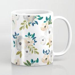 Sweet Blooms - Blue & Cream Coffee Mug