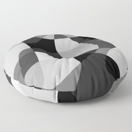 Mid Century Modern Abstract Rock Layers Charcoal Floor Pillow