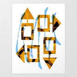 Autumn labyrinthe Art Print