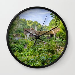 Duck Island Cottage Garden, St James's Park in London | Color | Travel Photography | Photo Print | Art Print Wall Clock