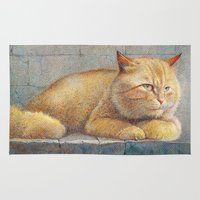 garfield Area & Throw Rugs featuring Ginger by irshi